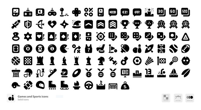 Games and sports icons