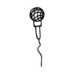microphone sketch vector. isolated on white background