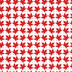 Canada Red Maple leaf patter