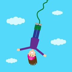 Прыжок девушки с верёвкой3