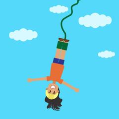 Прыжок девушки с верёвкой2