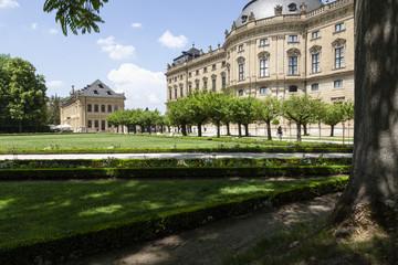 Würzburg-Residenz mit Hofgarten