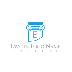 LAWYER LOGO LETTER TEMPLATE COLUMN