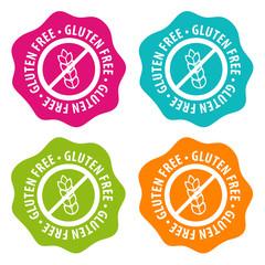 Wall Mural - Gluten free Badges. Eps10 Vector.