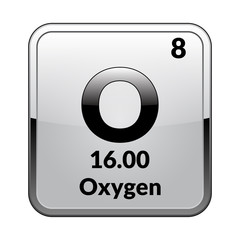 The periodic table element Oxygen.Vector.