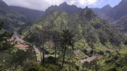 Landscape at Encumeada Pass in Madeira