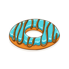 Donut with blue icing