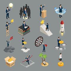 Entrepreneur Isometric Icons