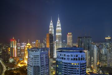 City skyline at night, Kuala Lumpur, Malaysia