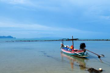 Printed kitchen splashbacks Zanzibar Peaceful beach of southern Thailand, Samui island far in background. Khanom, Nakhon Si Thammarat