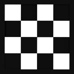 schwarz-weißes karo-Muster, kachelbar. illustration