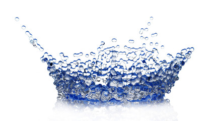 water splash like crown isolated - 3d rendering