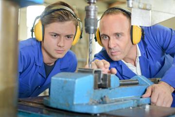 observing the metal driller