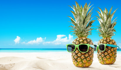 fresh pineapple and summer time