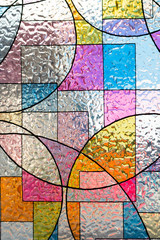 stained colorful christ glass . abstract multicolor