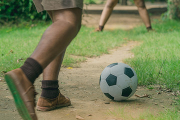 Soccer training for students in afternoon time.