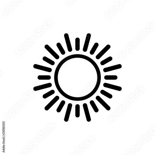 Sun vector icon  Sun line vector icon  sunshine icon