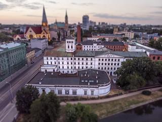 Łódź, Polska. Widok na Białą Fabrykę.