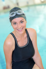 Portrait of female swimmer