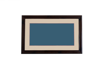 Blank Wooden Picture Frame with Blue and Brown
