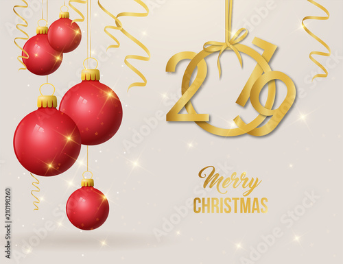 Weihnachtskugeln Rot Gold.2019 Weihnachtskugeln Rot Gold Stock Image And Royalty Free Vector