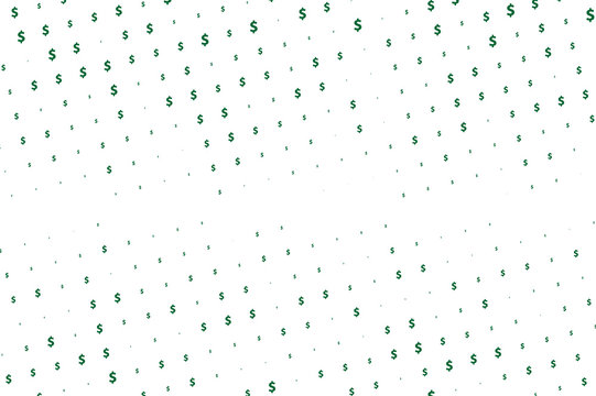 Green vector background with signs of dollars. Simple geometrical pattern with banking symbols.