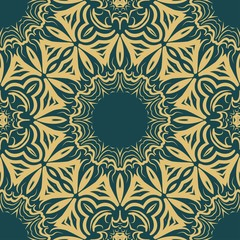 Seamless vector pattern. Geometric floral ornament. For Interior decoration, wallpaper, presentation, fashion design, print