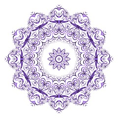 Mandala on a white background. Beautiful oriental, asian motives. Flower vector