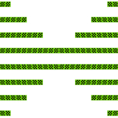 abstract, black-green cross stripe pattern. 2d illustration
