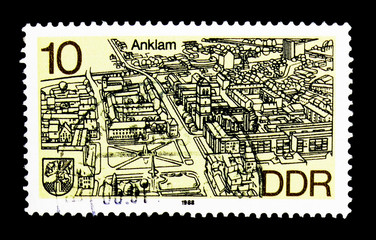 Anklam, District Towns In The North Of The GDR serie, circa 1988