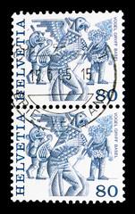 Vogel Gryff, Basel, Folk customs serie, circa 1987