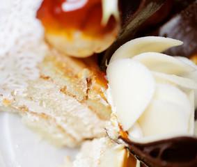 delicious cake, macro shot