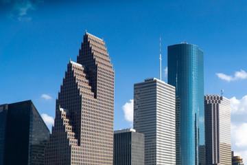 City Skyline Blue Skies