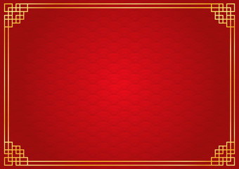 chinese new year background, abstract oriental wallpaper, circle wave inspiration, vector illustration  Fototapete