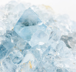 Blue crystals of the celestite