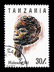Carved face, Makonde Art serie, circa 1992