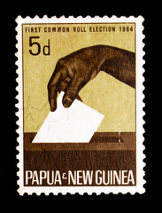 Casting ballot, First Common Roll elections serie, circa 1964