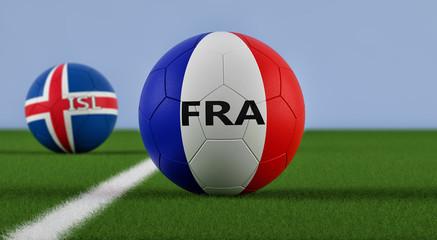 France vs. Iceland Soccer Match - 3D Rendering