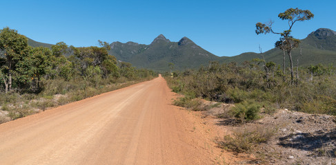 Wall Mural - Dirty road into the Stirling Range National Park close to Mount Barker, Western Australia