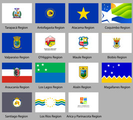 Flags of the states of Chile