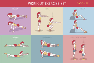 Workout Exercise Set Woman