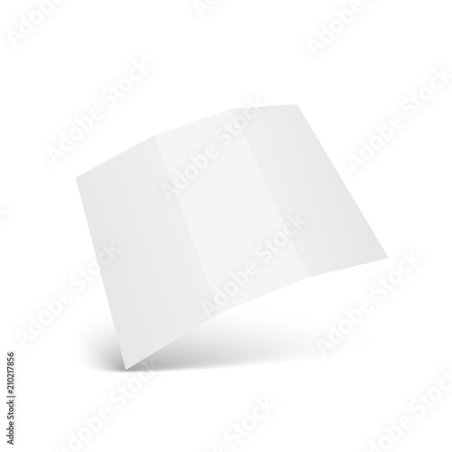blank trifold paper leaflet mock up template vector stock image