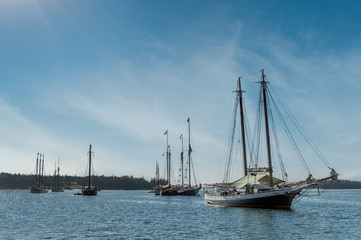 Wooden Boats Prep to Leave Gathering
