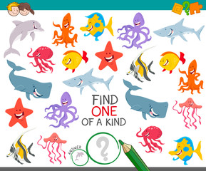 find one animal of a kind game for children