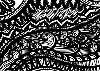 Zentangle inspared pattern Vector. Hand drawn artwork. Love bohemia concept for wedding invitations, cards.
