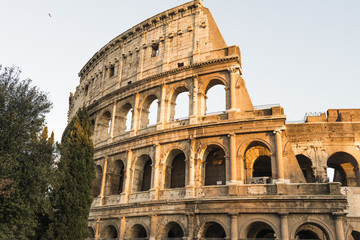 Exterior of the Colosseum in Rome