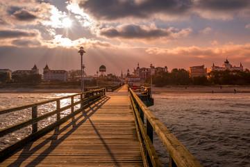 Seebrücke Abends an der Ostsee