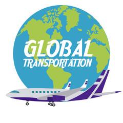 Airplane international transport