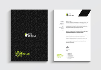 Letterhead Layout with Textured Background
