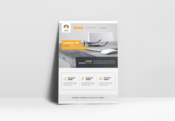 Gray and White Flyer Layout with Orange Accents